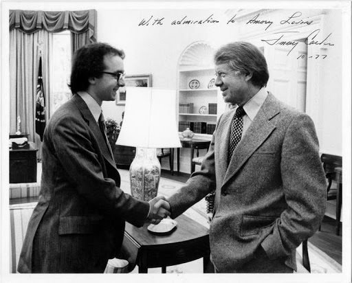 Amory Lovins meeting President Jimmy Carter