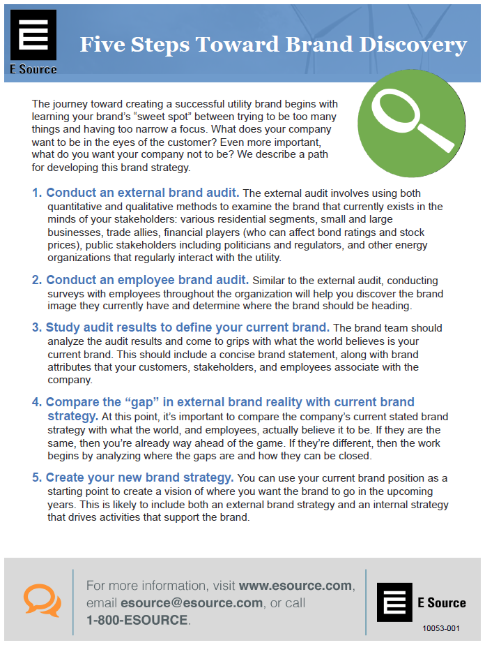 Downloadable report describing 5 steps toward brand discovery