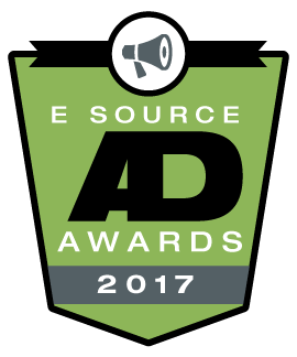 This is the logo for the 2017 E Source Utility Ad Awards Contest