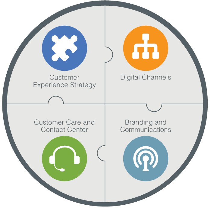 Image showing the four components of E Source CX services