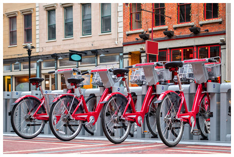 iStock image of a bike-sharing station