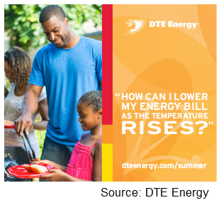 DTE Energy Summer Cooling banner ad