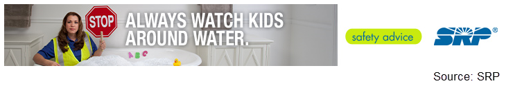 SRP water safety banner ad