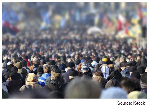 Stock photo of a crowd of people