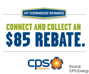 Image of CPS Energy advertising for an $85 rebate program