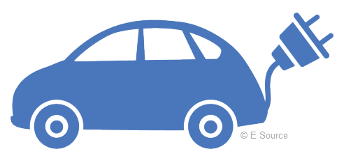 Icon of a blue electric vehicle