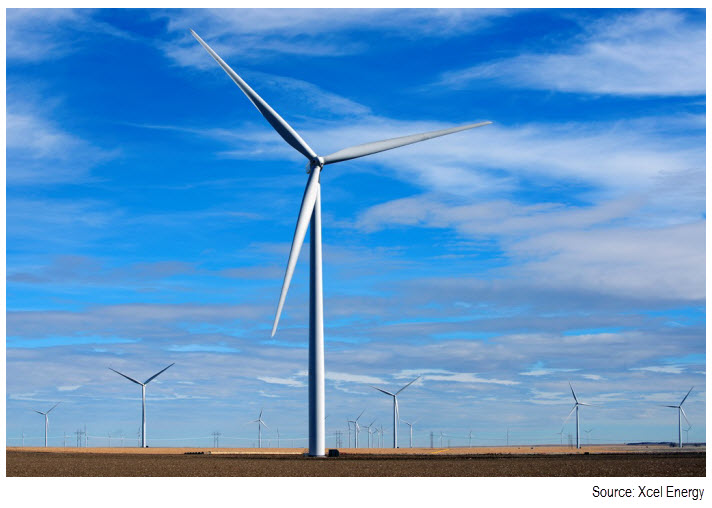Photograph of a wind turbine