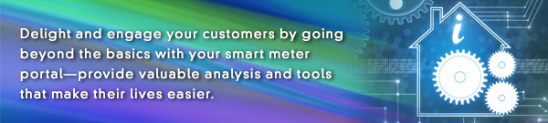 E News banner: Delight and engage your customers by going beyond the basics with your smart meter portal—provide valuable analysis and tools that make their lives easier.