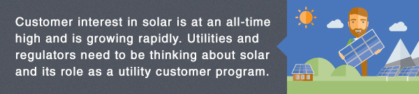 E News banner: Learn how utilities can use their experience developing demand-side management programs to design customer-focused solar programs.