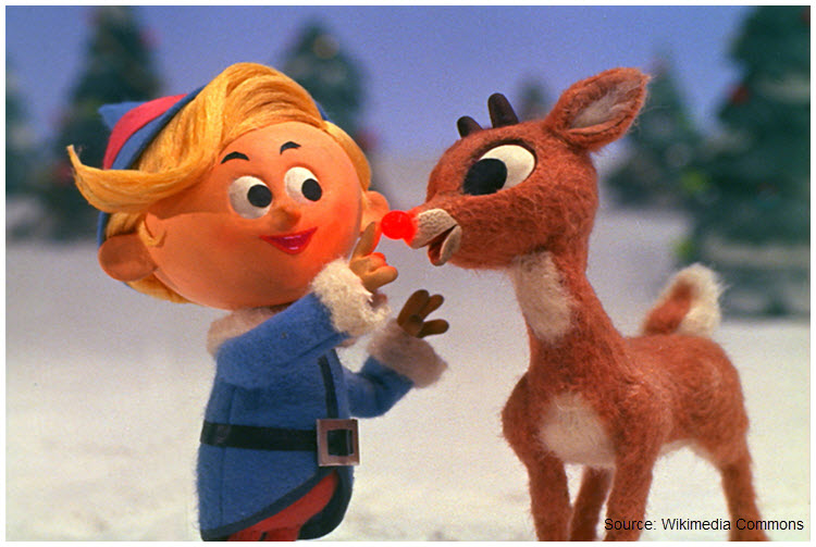 Screen capture of Rudolph the red-nosed reindeer