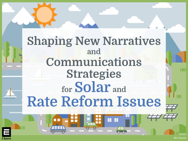 This is a thumbnail of the cover of an ebook created for the E Source Solar Customer Project