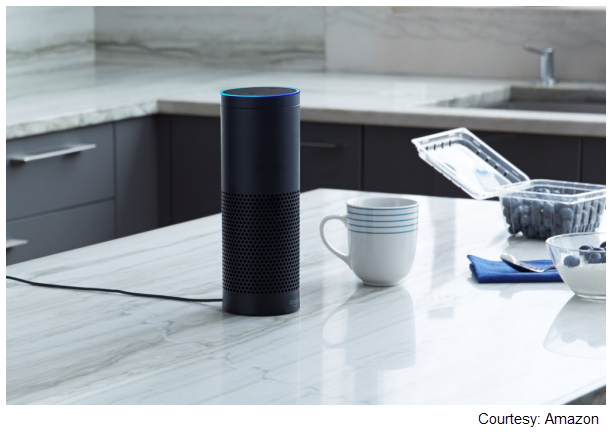 Stock photo of the Amazon Echo