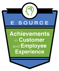 This is the logo for the E Source Achievements in Customer and Employee Experience awards