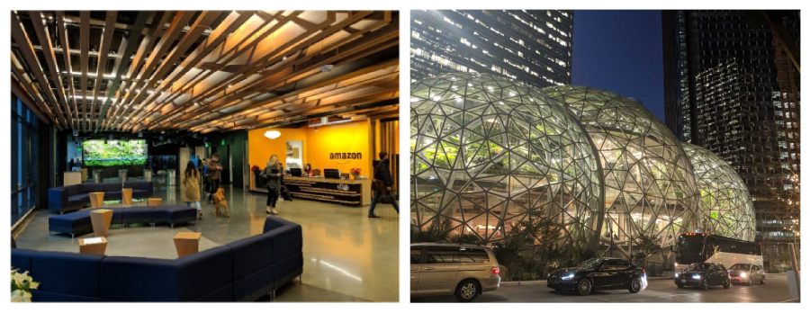 Photos of the Amazon headquarters in Seattle, taken by the author.