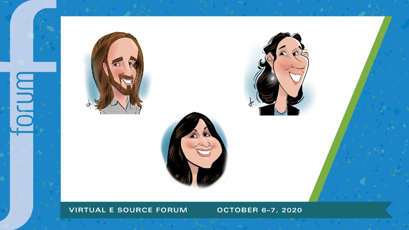 Examples of caricature illustrations from past Forum's