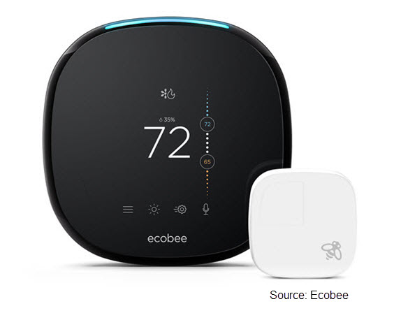 Photo of Ecobee4 smart thermostat