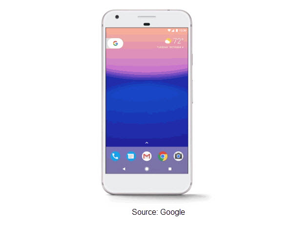 Photo of Google Pixel 2 smartphone