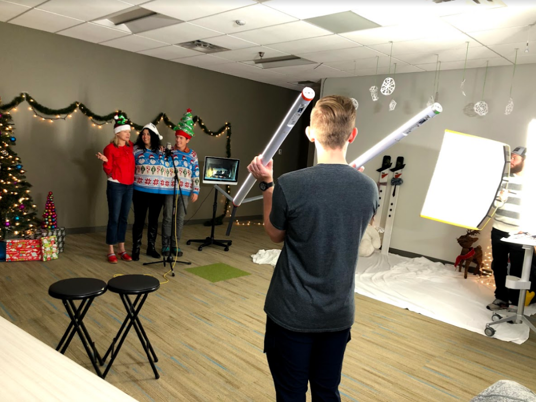 Behind the scenes of the 2019 E Source holiday card.