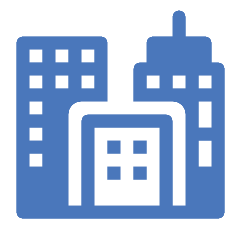 Business buildings icon