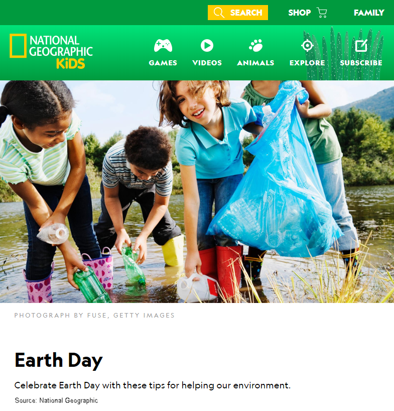 Celebrate Earth Day with these tips for helping our environment.